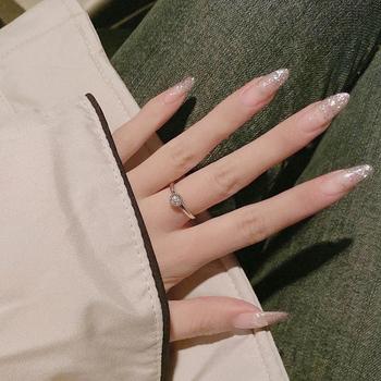 24 sztuk Nails Patch klej typu błyszczące długie akapit moda wymienny Manicure Patch fałszywe paznokcie zaoszczędzić czas Nail Patch SAL99 tanie i dobre opinie Y W F CN (pochodzenie) Shiny Long Paragraph Fashion Removable 24pcs Glue Type Manicure Patch False Nails Save Time Nails Patch Glue Type