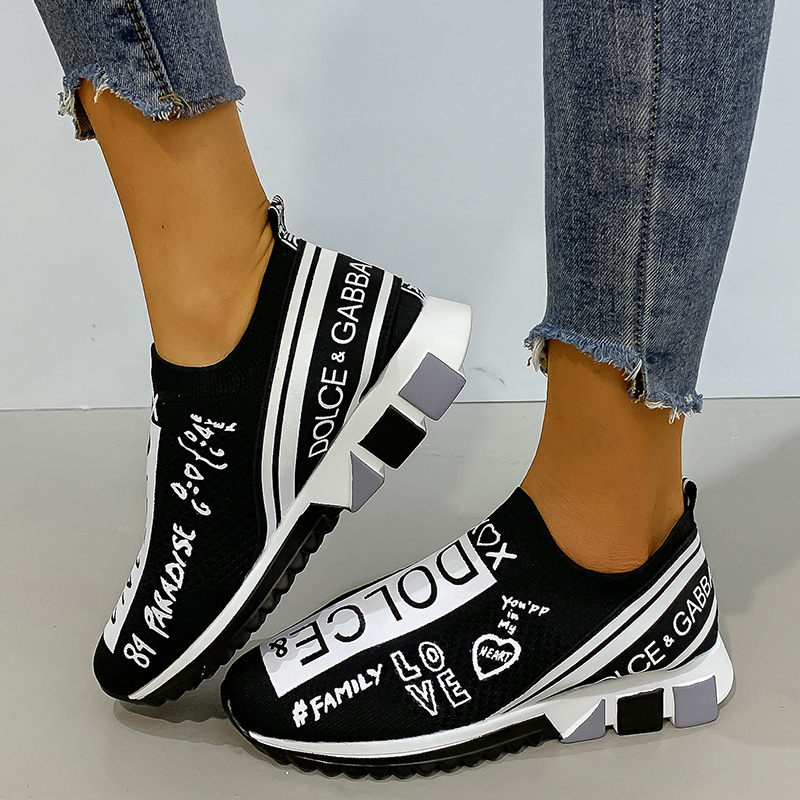 Designer Sock Shoes Women Vulcanized Shoes Unisex Casual Shoes Woman sneakers Slip On Walking Sneakers Women Chaussures Femme|Women's Vulcanize Shoes| - AliExpress