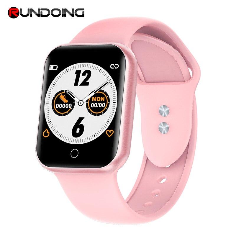 RUNDOING NY07 женские умные часы водонепроницаемые фитнес-трекер для измерения сердечного ритма мужские спортивные Смарт-часы для Android IOS