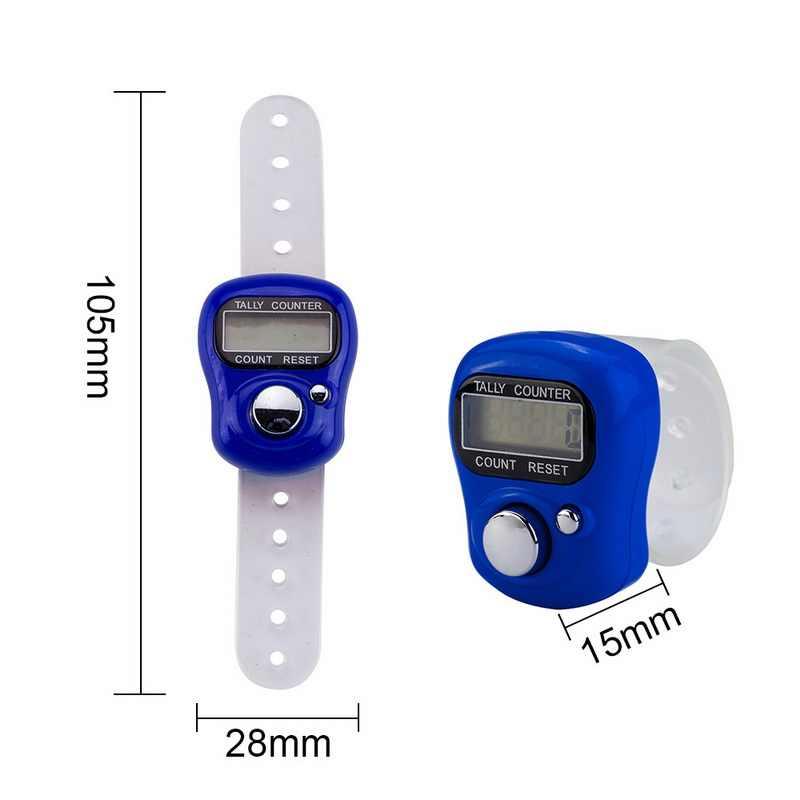 1PC LCD Elettronico Digitale Contatore Per Cucire di Lavoro A Maglia Del Tessuto Strumento Mini Stitch Marker E Fila Contatore Dito