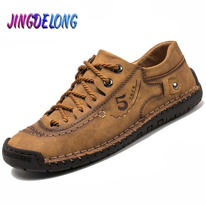Thời Trang Nam Giày Da Lộn Da Thoải Mái Nam Lái Xe Giày Buộc Dây Nam Chính Thức Áo Cưới Giày Người Giày 38-48