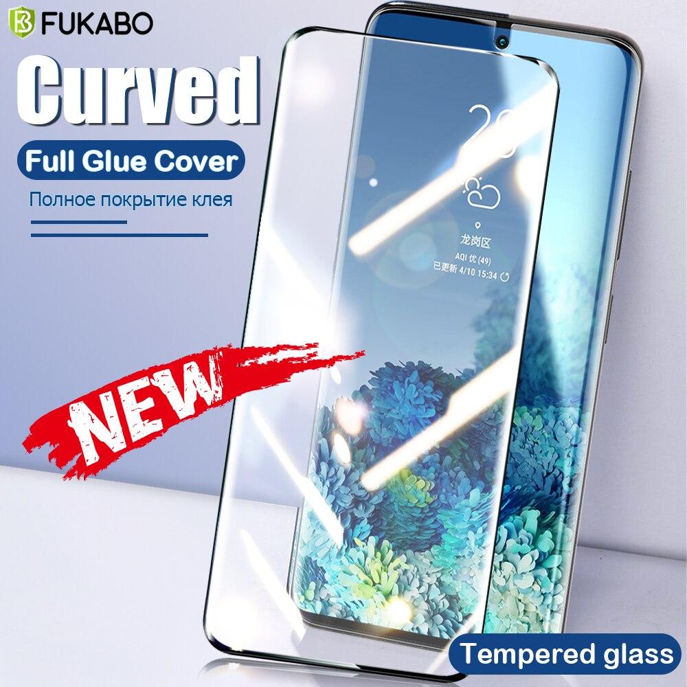 Curvo Vetro Temperato Per Samsung Galaxy Note 20 Ultra Protezione Dello Schermo Per 10 Più S20 S10 S9 S8 9 8 gelatina Colla Della Pellicola Della Copertura