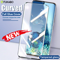 Gebogen Gehärtetem Glas Für Samsung Galaxy Note 20 Ultra Screen Protector Für 10 Plus S20 S10 S9 S8 9 8 gelee Volle Kleber Abdeckung Film