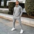 2021 Men's Sets Tracksuit Casual Stripe Sport Suits Fitness Zipper Clothing Slim Fashion European TrendsTracksuits Set
