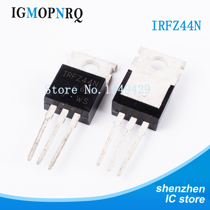 10pcs free shipping IRFZ44N IRFZ44 IRFZ44NPBF MOSFET MOSFT 55V 41A 17.5mOhm 42nC TO 220 new original-in Integrated Circuits from Electronic Components & Supplies