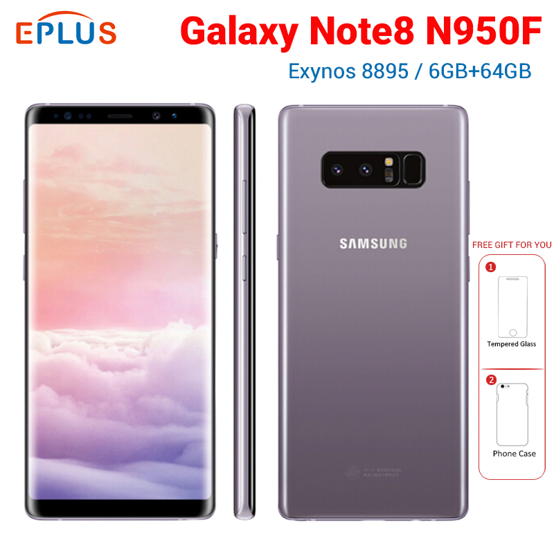 6.3 inch Samsung Galaxy Note8 Note 8 N950F Global Mobile Phone Exynos 8895 Octa core 6GB RAM 64GB ROM NFC 4G Android SmartPhone image