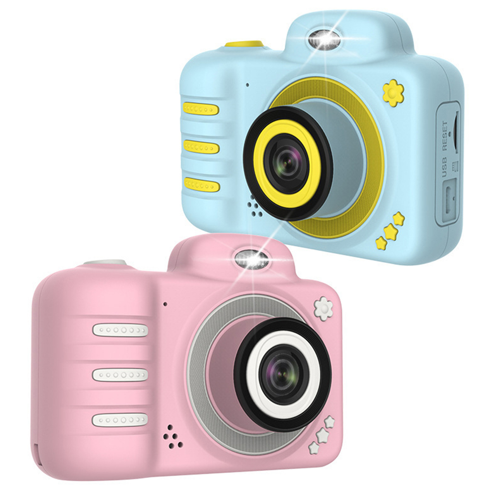 Camera Gifts Video With Memory Card DSLR Camcorder Dual Lens Cartoon Kids Toys Shockproof Mini Digital ABS 2.4 Inch Screen image