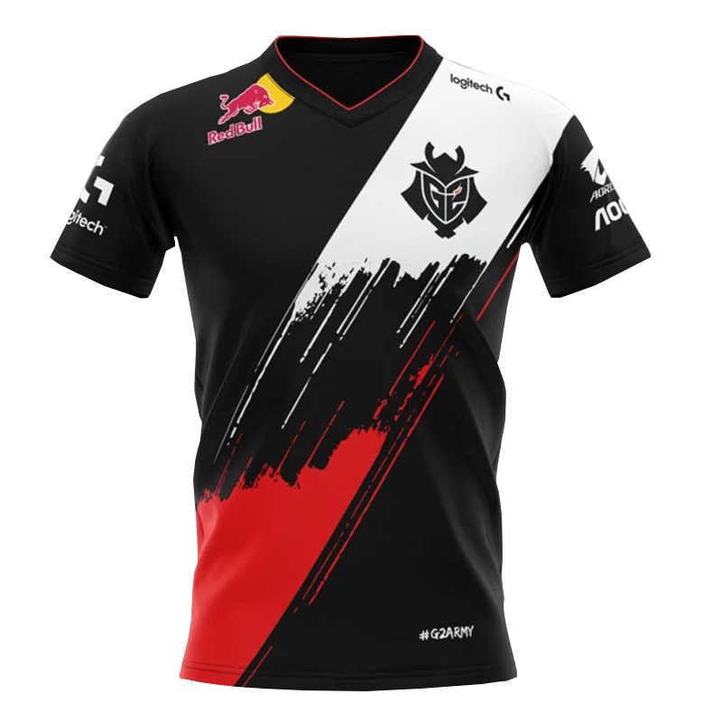 2020 New Arrival LoL LEC G2 Esports Team Jerseys Customized Name Fans Tshirt Men Women Custom ID Tee Shirt