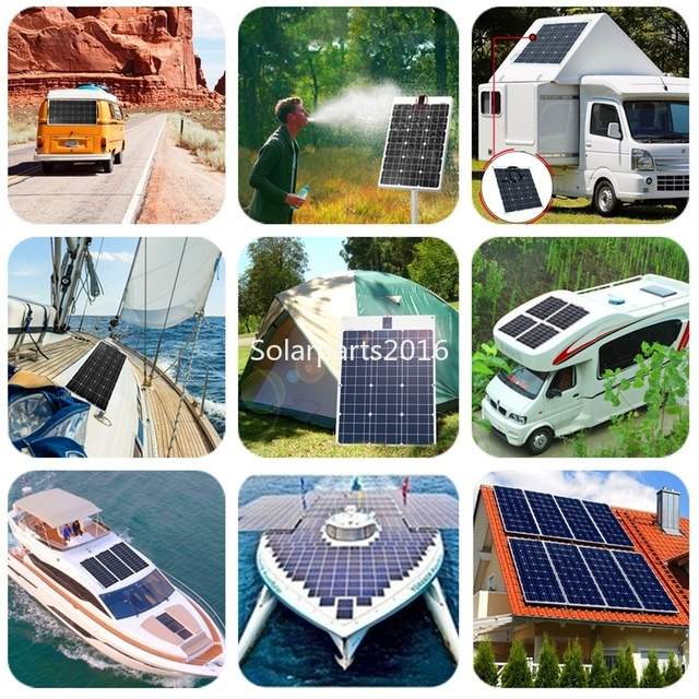 Boguang 100W solar panel 200W 300W 400W kit Panneau solaire flexible for 12V 24V battery car RV home outdoor Power charging 6