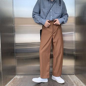 Autumn Korean Style Suit Pants Mens Slim Fashion Business Casual Dress Men Streetwear Straight Trousers