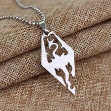 Super Star Gleiche Artikel Halskette Spiel Die Elder Scrolls Skyrim Halskette Aushöhlen Carving Drachen Legierung Punk Stil Schmuck für männer