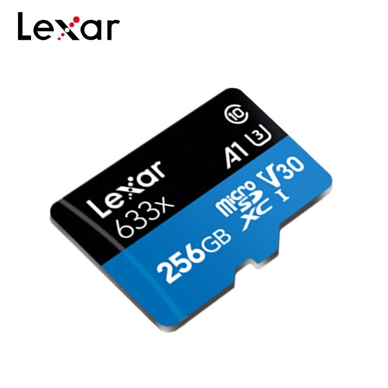 Lexar Original Micro SD Card 256GB Memory Card 128GB Max 95MB/s 64GB 633x Cartao De Memoria TF Card 32GB Flash Card For Phone