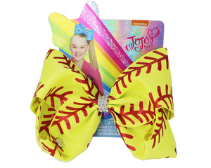 Image 5 - Yeni 7 inç saç yay softbol yaylar saç tokası ile Cheer bow beyzbol futbol voleybol dans elastik band abd 10 adet/
