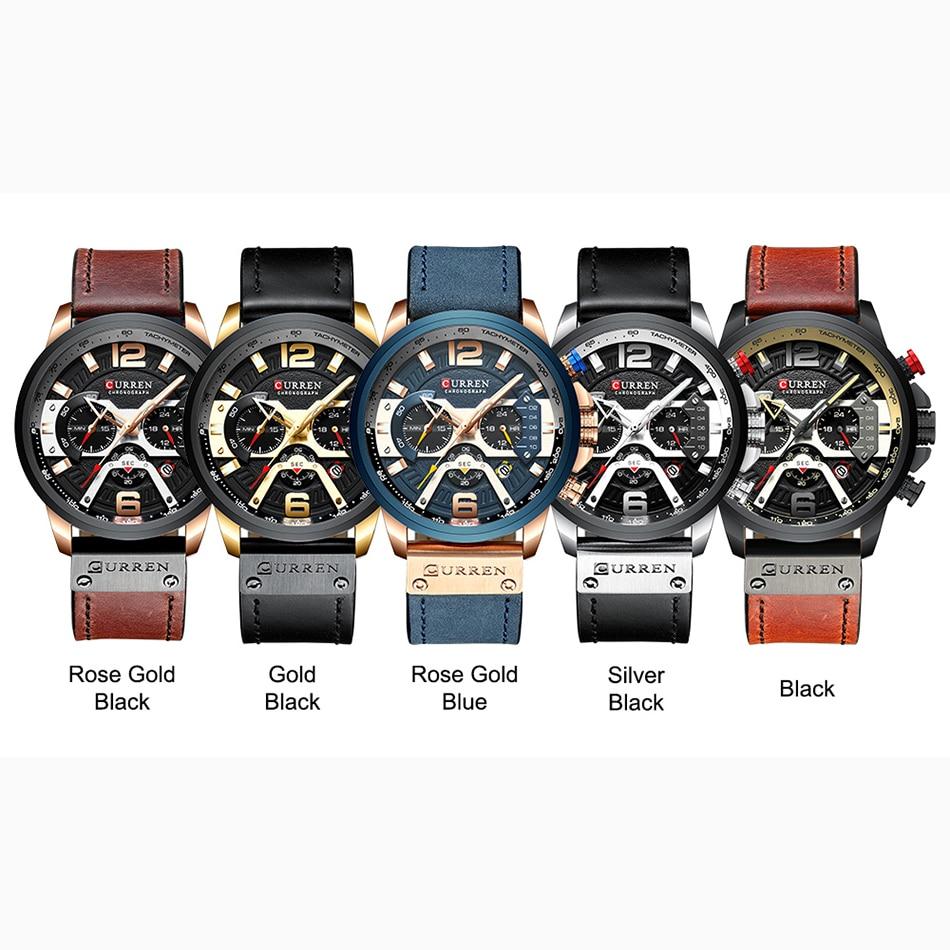 Watches Men CURREN Brand Men Sport Watches Men's Quartz Clock Man Casual Military Waterproof Wrist Watch relogio masculino 6