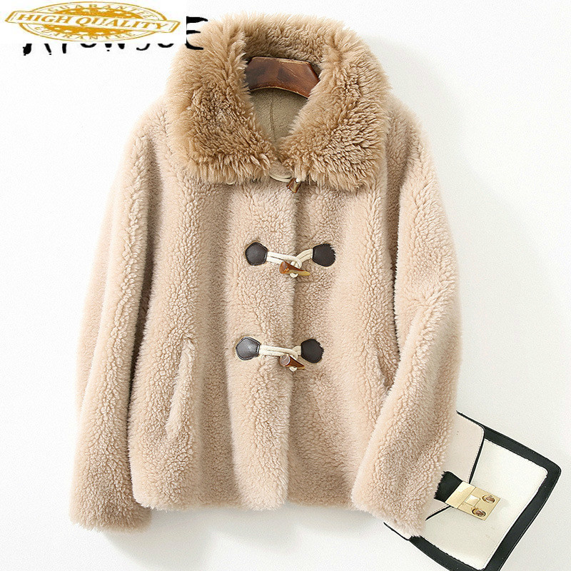 Real Fur Coat 100% Wool Jacket Women Clothes 2020 Autumn Winter Coat Women Sheep Shearing Manteau Femme 5W75510 YY1979