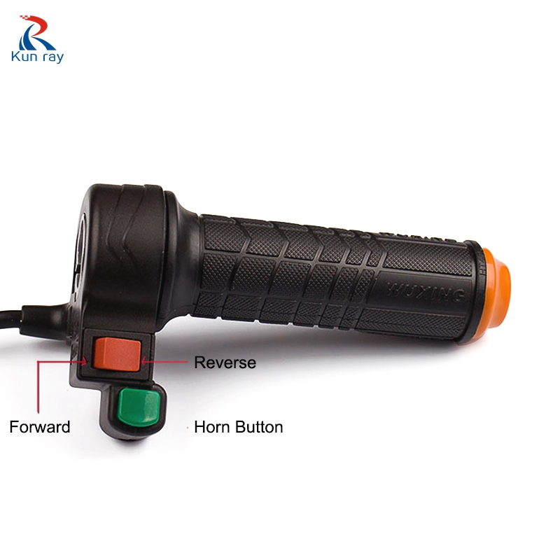New Electric Bike Throttle Handlebar Grip Speed//Reverse Switch Black For Scooter