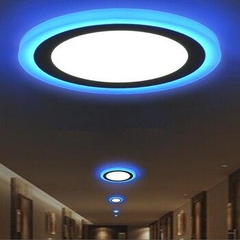 [DBF] moderna luz de techo REDONDA/cuadrada regulable 6W 9W 16W Panel de luz LED blanco cálido/frío + luz azul para pasillo Decoración Para sala de estar