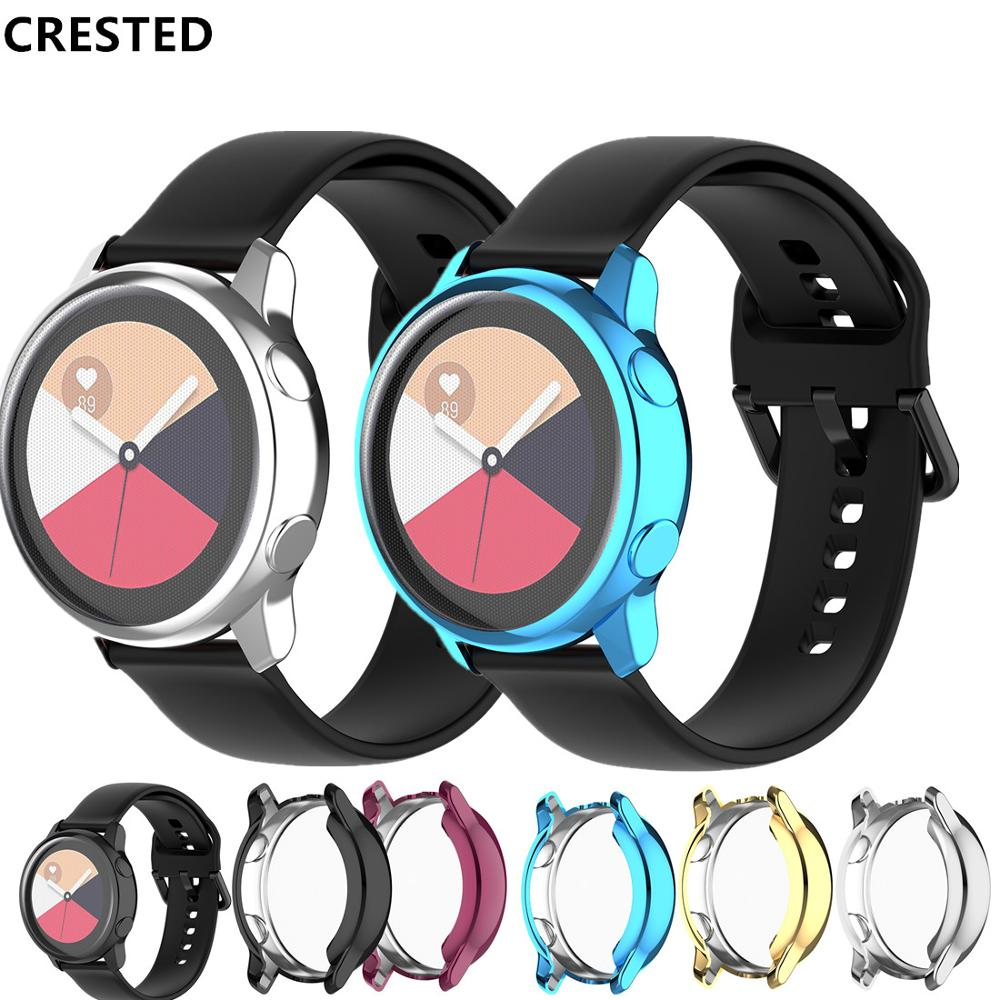 Watch Case For Samsung Galaxy Watch Active/R500 Case Cover Plating Colorful Transparent TPU Soft Plastic Protective Case  Cover