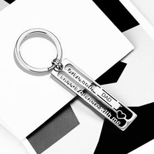 New Family Series Stainless Steel Keychain Hollow Carved Car Keychain DRIVE SAFE Key Chain Key Ring Gift for Dad(China)