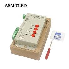 DC5 ~ 24V T 1000S 128G 256G kontroler RGB T1000S karty SD APA102 WS2801 WS2811 WS2812B LPD6803 DMX512 LED 2048 pikseli kontroler