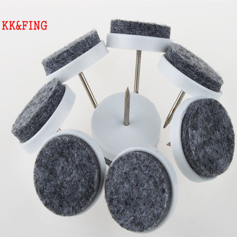 KK&FING 30 Pcs Chair Table Furniture Leg Bottom Feet Glides Skid Tile plastic Pad Floor Nail Wood Floor Protector Nail