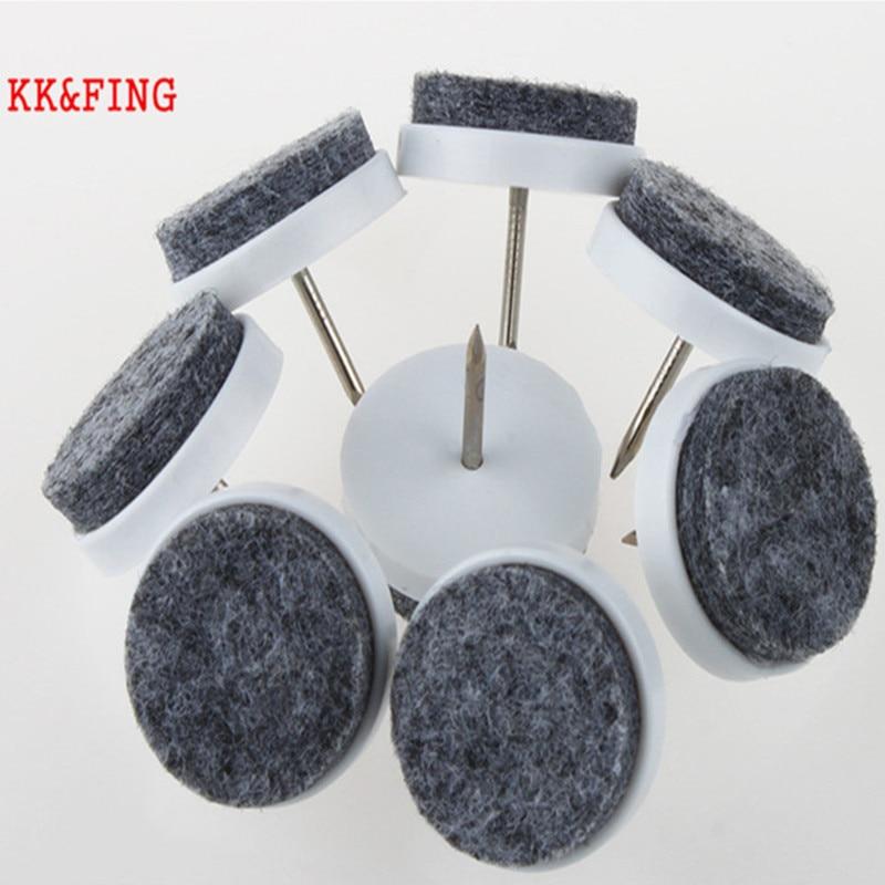 KK&FING 30 Pcs Chair Table Furniture Leg Bottom Feet Glides Skid Tile Plastic Pad Floor Nail Wood Floor Protector Nail