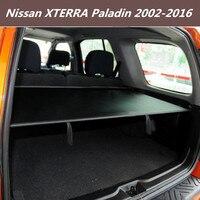 Wysokiej jakości tylny bagażnik samochodu tarcza bezpieczeństwa pokrywa bagażnika dla 02 16 Nissan XTERRA Paladin 2002 2016 (czarny  beżowy) w Bagażniki tylne i akcesoria od Samochody i motocykle na
