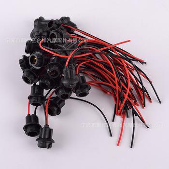 Producenci dostarczają żarówka samochodowa T10 gniazdo żarówki Instrument gniazdo żarówki czarny i biały z wzór T10 dużej ilości Curr tanie i dobre opinie He xiang 12 24 AP505
