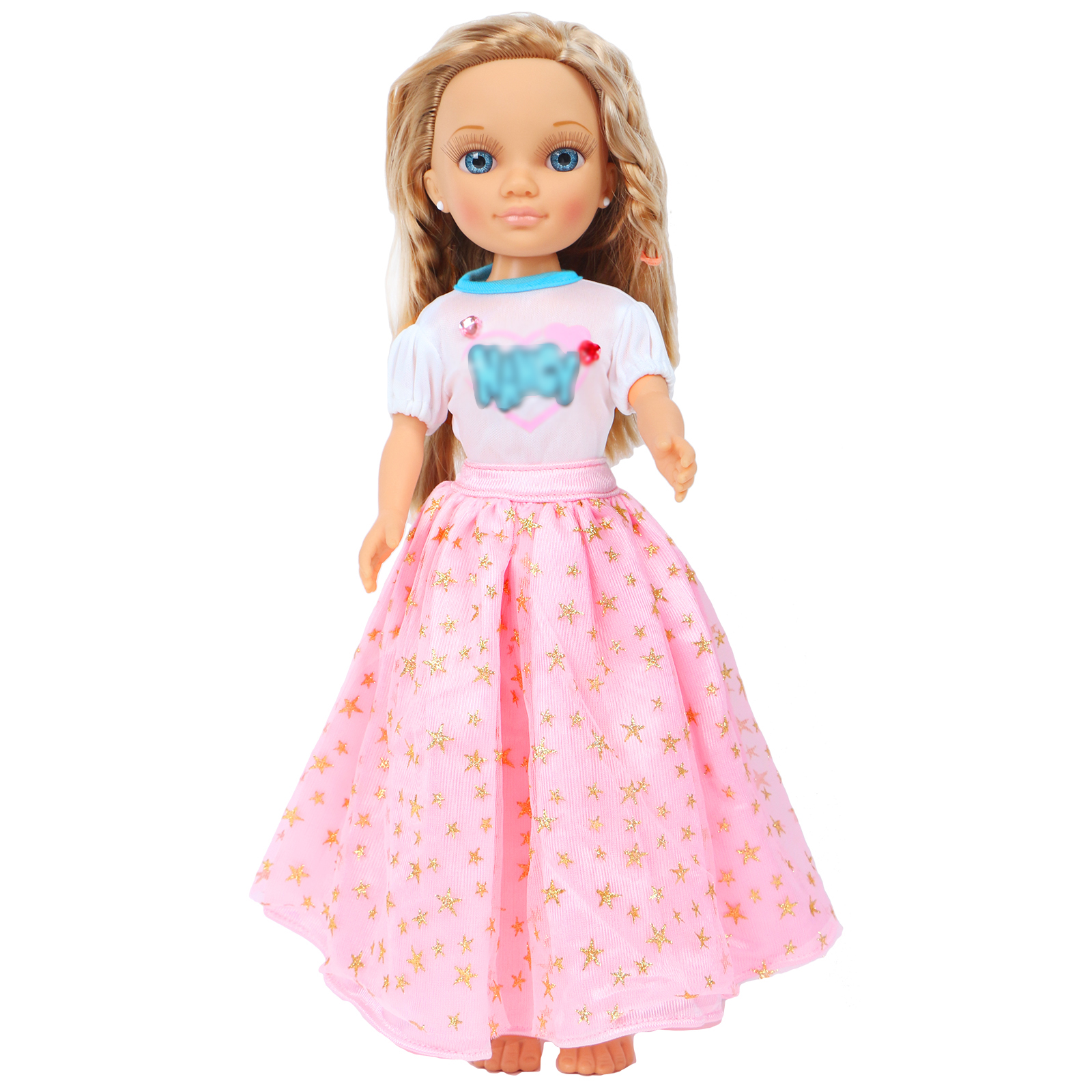 High Quality Wedding Party Wear Dress Princess Blouse + Lace Pink Skirt Gown Clothes For Nancy Doll Accessories Xmas Kids Toy