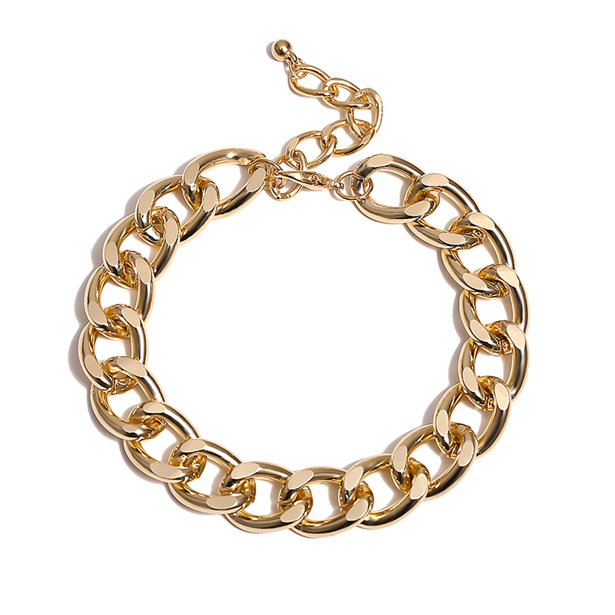 Lacteo Punk Thick Chunky Chain Anklet for Women Statment Fashion Anklet Hip Hop Golden Cross Chain Charm Anklet Female Jewelry 2