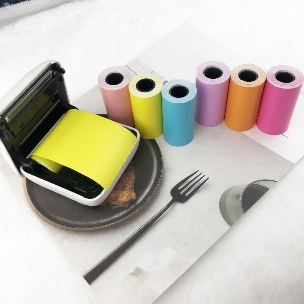 Self-adhesive Thermal Printing Paper Stickers 57x30mm Stickers Paper Printing Photo Printer Thermal H9M8
