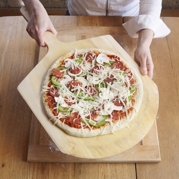 14 дюймов натуральный деревянный кухонный поднос пластина Charcuterie доска для пиццы лопатка Черпак весло Для Выпечки Пиццы и для хлебных лотков...