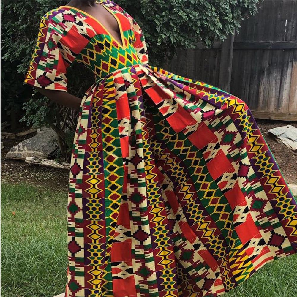 Летний Новый Стиль, африканская Женская одежда, Дашики, модный принт, эластичная резинка на талии, короткий рукав, широкие брюки, комбинезоны, платья в африканском стиле, 2020|Африканская одежда|   | АлиЭкспресс