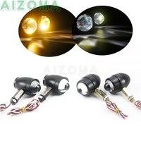 12v Universal LED Blinker Indicator Off Road Dirt Bike Aluminum Running Turn Signal Custom Motorcycle 10mm Bolt Flasher Light -