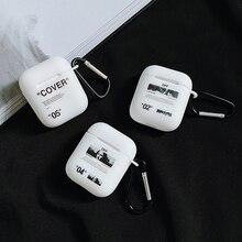 ¡Oferta! funda de silicona suave con pintura al óleo Vintage para apple Airpods 1 2 funda blanca Auriculares inalámbricos con Bluetooth para auriculares con gancho