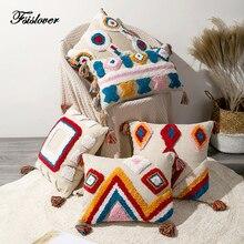 FSISLOVER геометрический чехол для подушки ручной работы трехмерный Вышитый Чехол для подушки Средиземноморский Хлопковый чехол для дивана