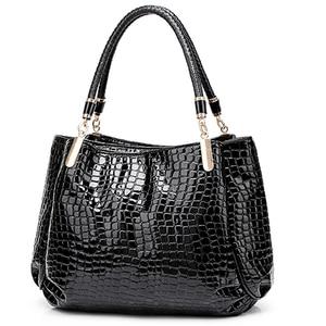 Image 1 - Novo crocodilo couro pu bolsas de luxo bolsas femininas sacos de designer famosa marca feminina sacos de grande capacidade para as mulheres sac