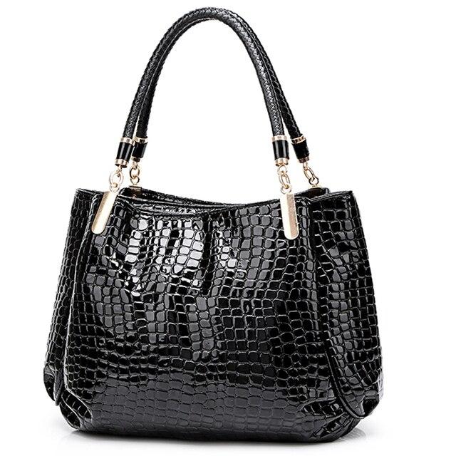Novo crocodilo couro pu bolsas de luxo bolsas femininas sacos de designer famosa marca feminina sacos de grande capacidade para as mulheres sac