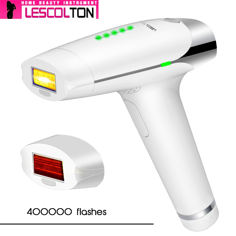 2 In 1Lescolton Laser Epilator IPL Permanent Face Body Bikini Hair Removal Machine Epilator Care Tools For Woman And Man White