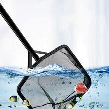 Черные аквариумные аксессуары с длинной ручкой квадратная аквариумная