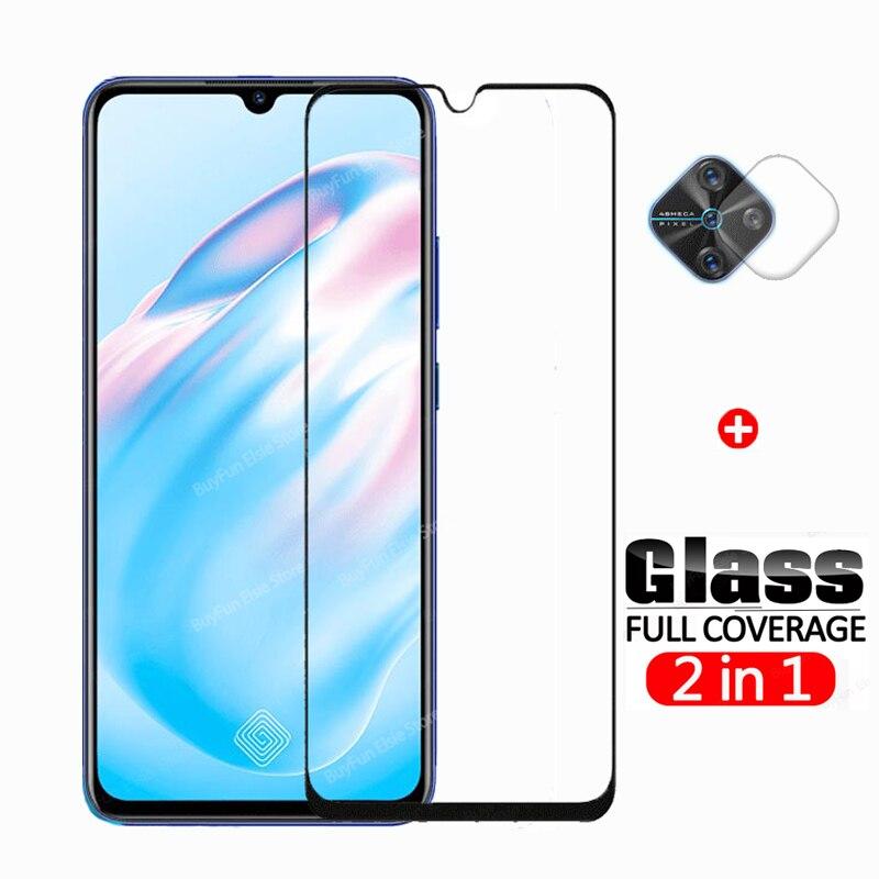 2 in 1 Tempered Glass On For Vivo V17 Screen Protector Camera Film For Vivo V 17 V1945A V1945T Prote