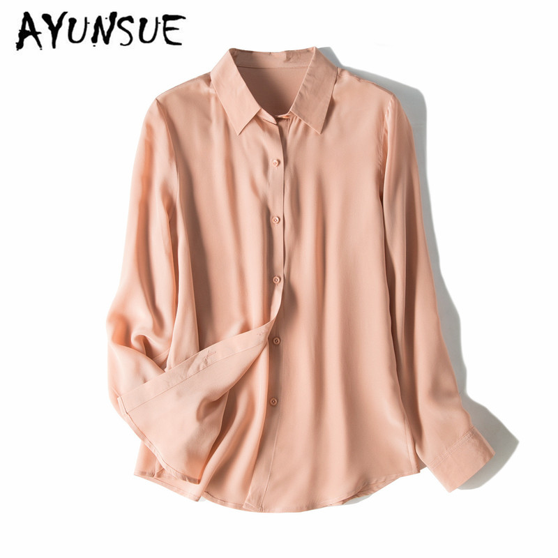 Blouse Women Real Silk Shirt Womens Tops And Blouses Vintage Ladies Tops Women Clothes Blusas Mujer De Moda 2020 CS1987 YY2834
