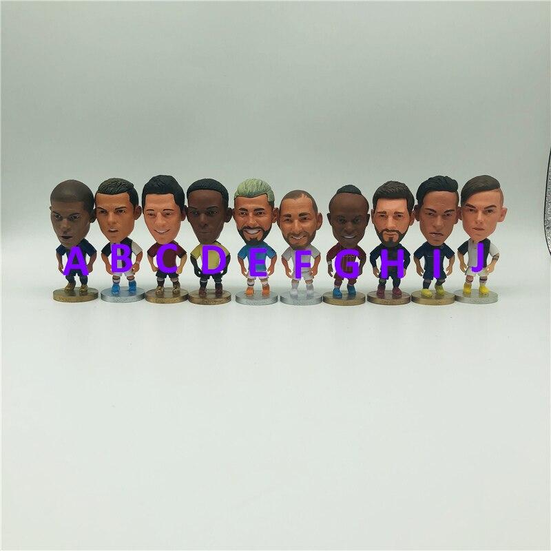 """Bonecas de desenhos animados de futebol, robô kun, karim, 6.5 cm, 2.55 """"altura indicida, pp"""