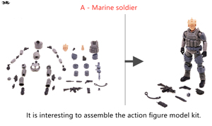 Image 3 - JOYTOY 1/18 action figure Unassembled, not colored model kit soldier figures DIY Collection toys Free shipping