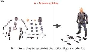 Image 3 - JOYTOY 1/18 figura de acción sin montar, no coloreado modelo kit soldado figuras DIY colección juguetes envío gratis