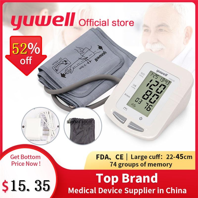 Yuwell 660B Arm Blood Pressure Monitor Large LCD Cuff Medical Nurse Device Sphygmomanometer Blood Pressure Home Health Dector-in Blood Pressure from Beauty & Health