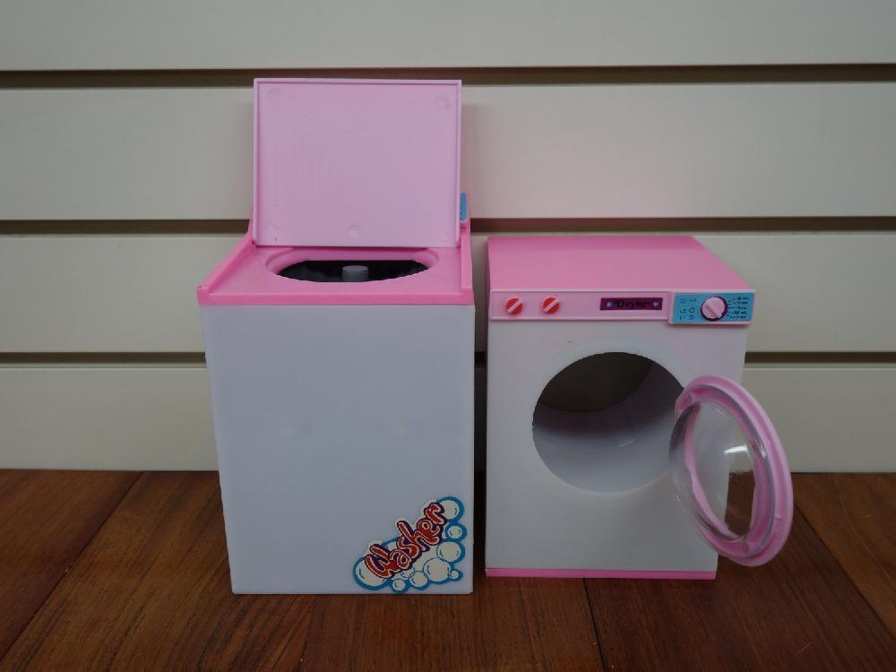 Doll Size Laundry Center Play House Toy Washing Machine Set