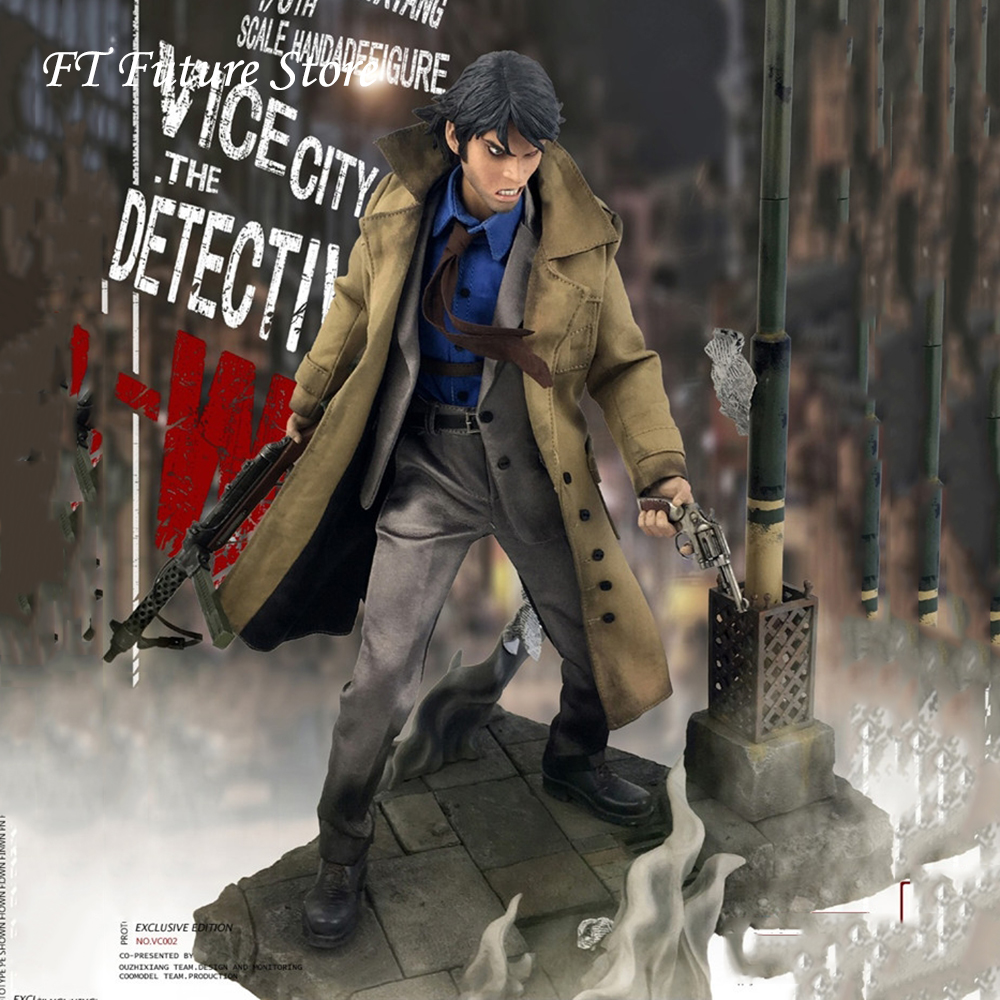Collectible In Stock 1/6 Scale W VC001 VC002 Vice City Detective Full Set Action Figure   Accessory Model for Fans Gifts