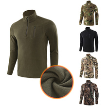 Shirt Tactical Camouflage Men for Training Autumn Coat Outdooor Hiking Cotton Close-To-Skin