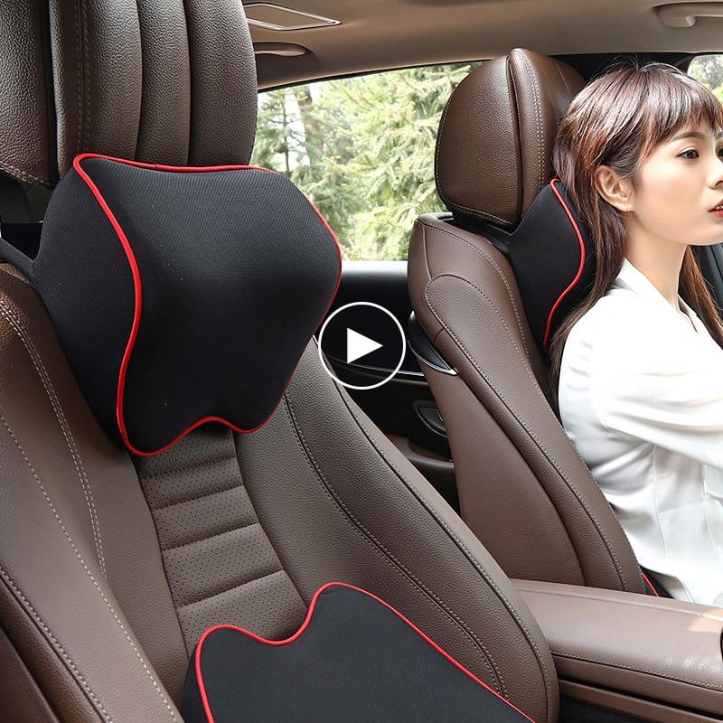 Voiture oreiller siège soutien lombaire coussin dos oreiller mémoire coton soutien lombaire pour bureau chaise coussin pour voiture Auto